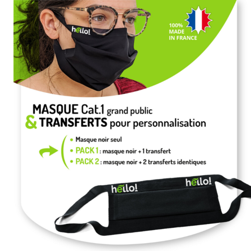 Découvrez nos packs Masques + transferts